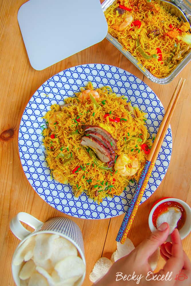 Gluten Free Singapore Noodles Recipe (low FODMAP, dairy free)