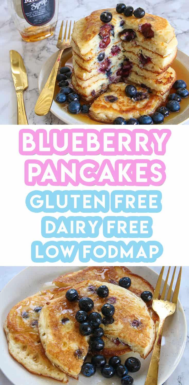 Gluten Free Blueberry Pancakes Recipe (dairy free, low FODMAP)