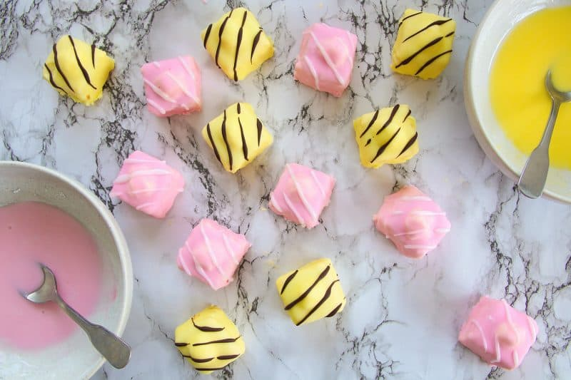 My Gluten Free French Fancies Recipe (dairy free, low FODMAP)