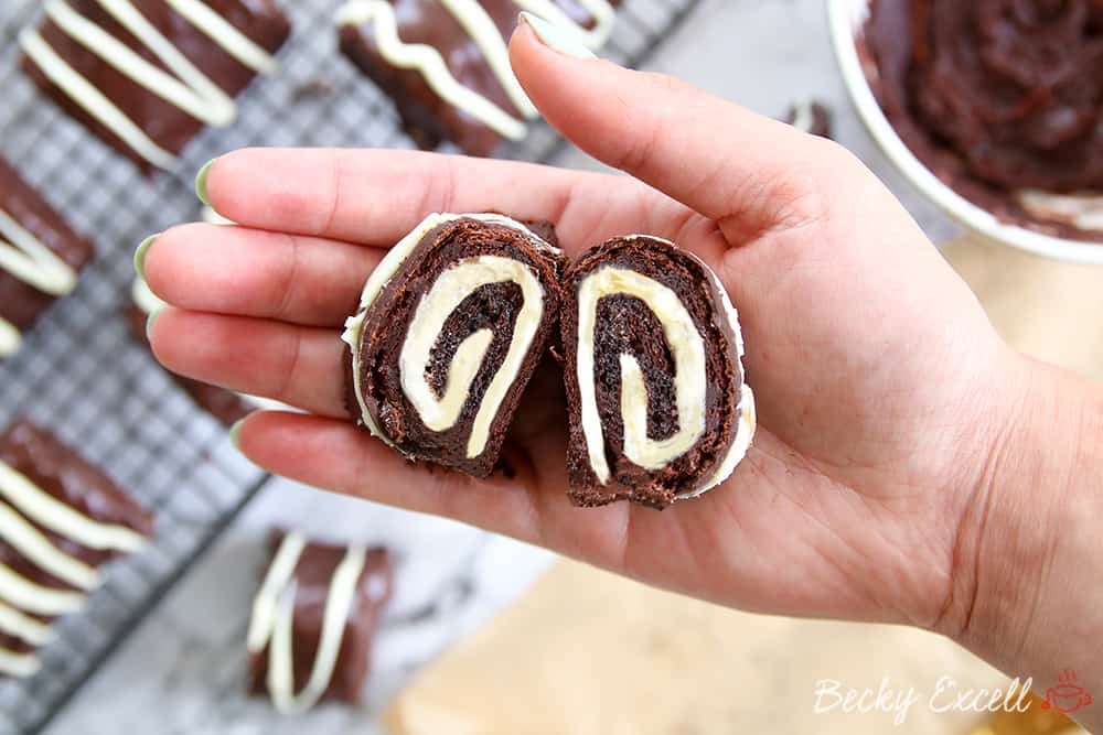 My Gluten Free Chocolate Mini Rolls Recipe (dairy free, low FODMAP)