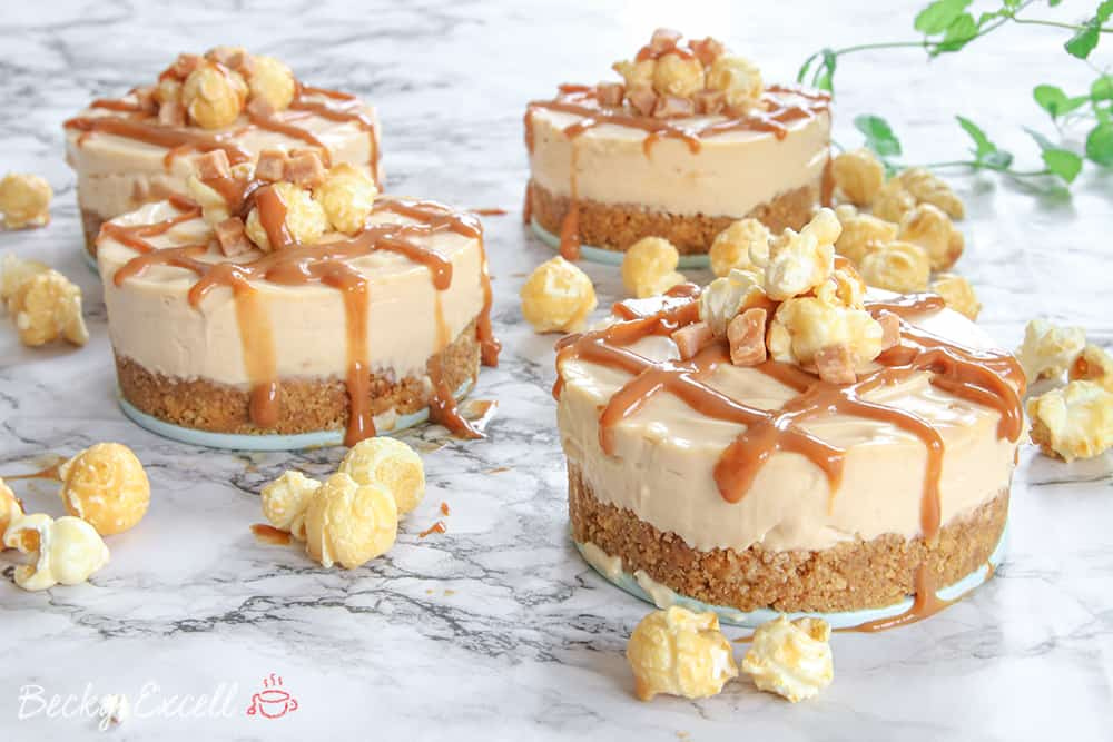 gluten free salted caramel and popcorn cheesecake recipe