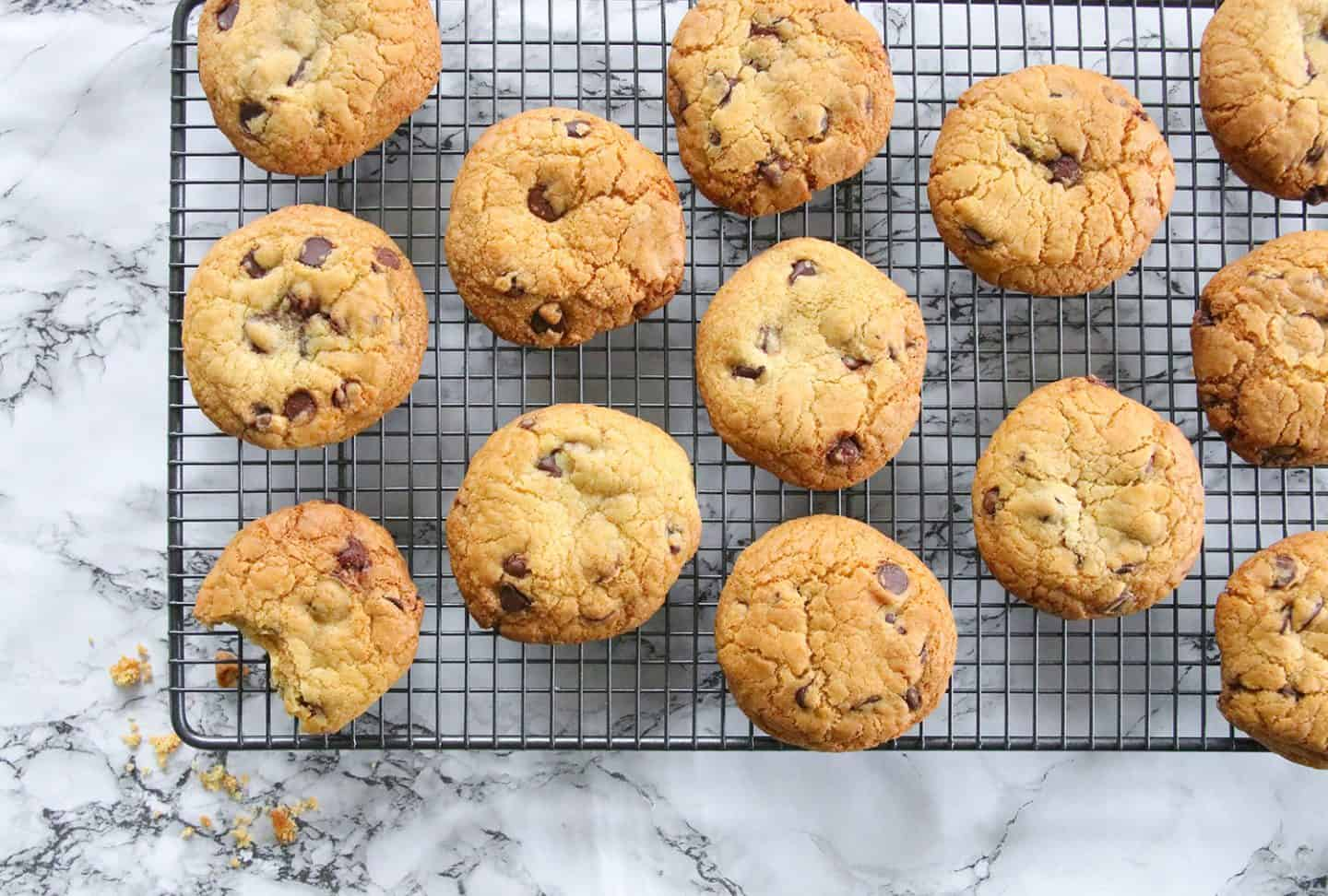 My Chewy Gluten Free Choc Chip Cookies Recipe (dairy free, low FODMAP)