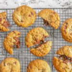 gluten free nutella-stuffed choc chip cookies