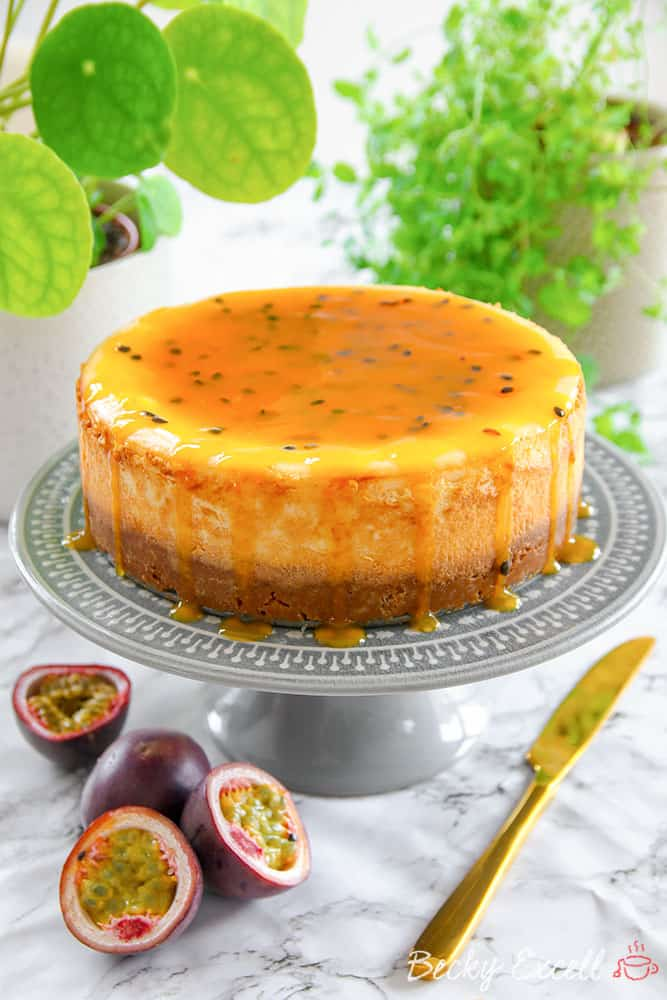 gluten free passionfruit baked cheesecake recipe