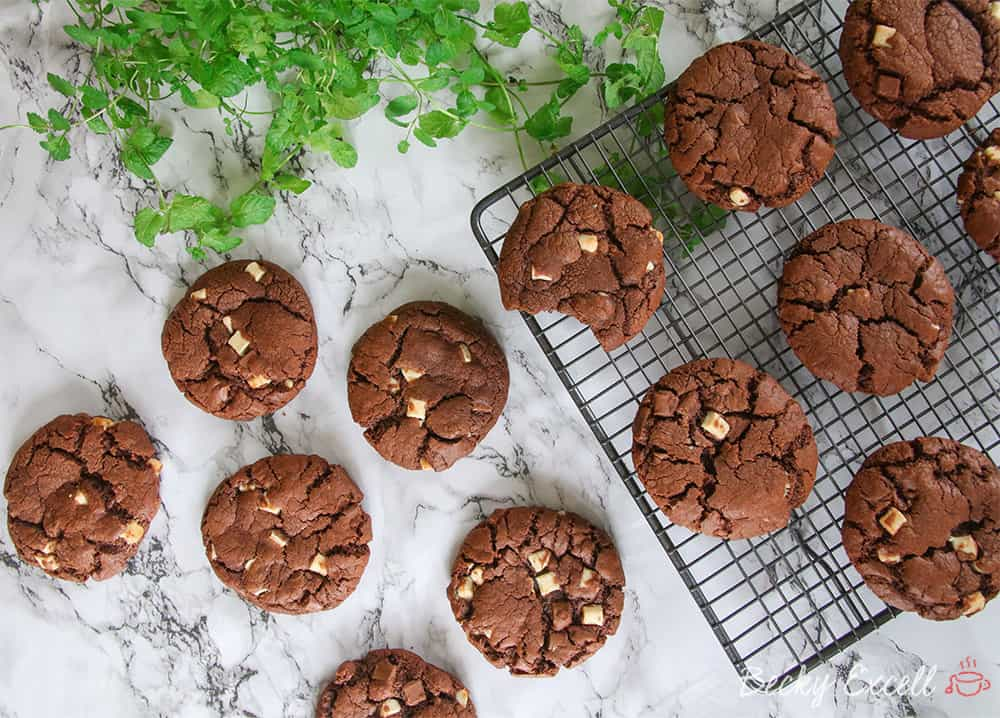 Gluten Free Triple Chocolate Cookies Recipe
