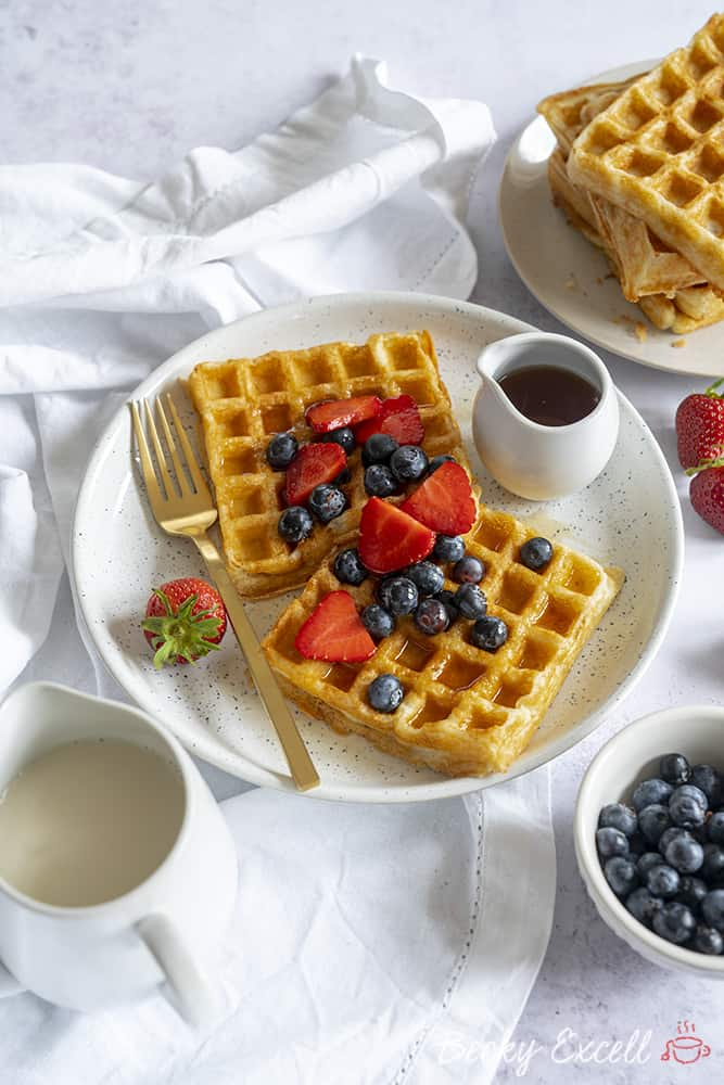 My 4 Ingredient Gluten Free Waffle Recipe (dairy free, low FODMAP)