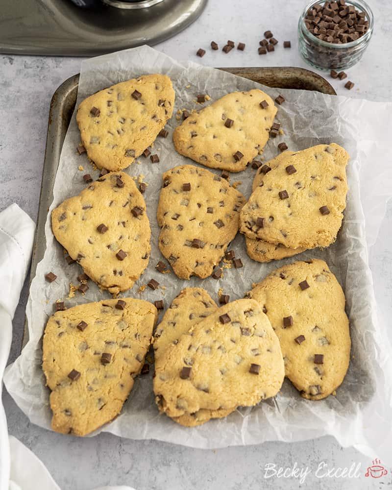 My 5-Ingredient Gluten Free Chocolate Chunk Shortbread Recipe (dairy free, low FODMAP)