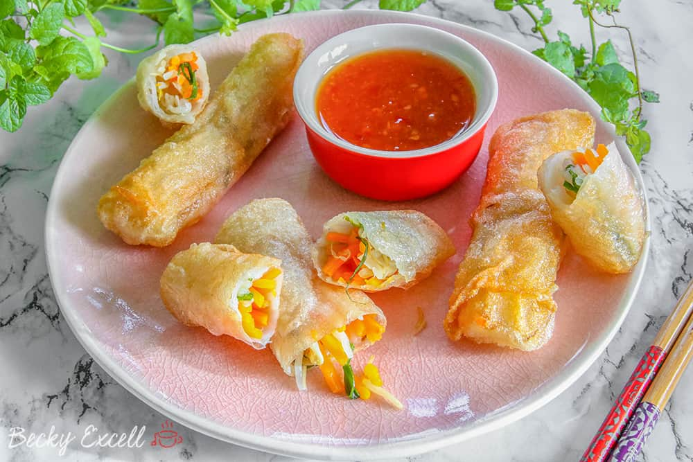 Mark's Gluten Free Vegetable Spring Rolls Recipe (low FODMAP)