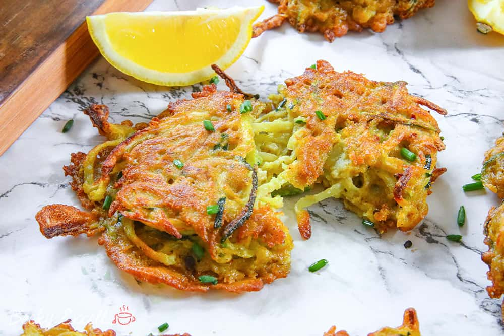 no-onion bhaji courgette fritters