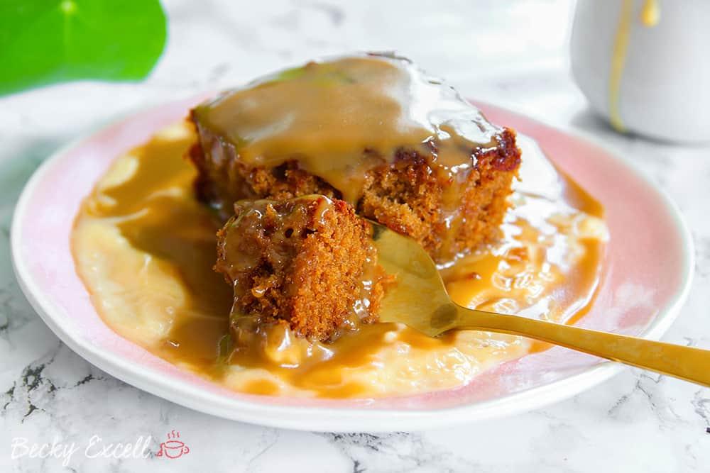 My Gluten Free Sticky Toffee Pudding Recipe (low FODMAP + dairy free)