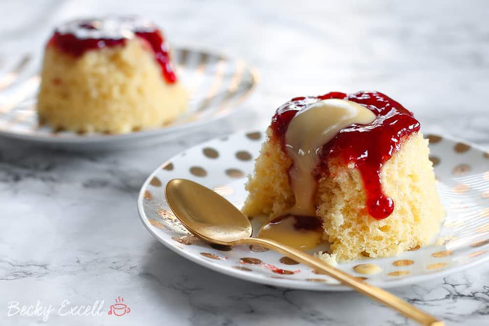 My Microwaveable Gluten Free Jam Sponge Pudding Recipe