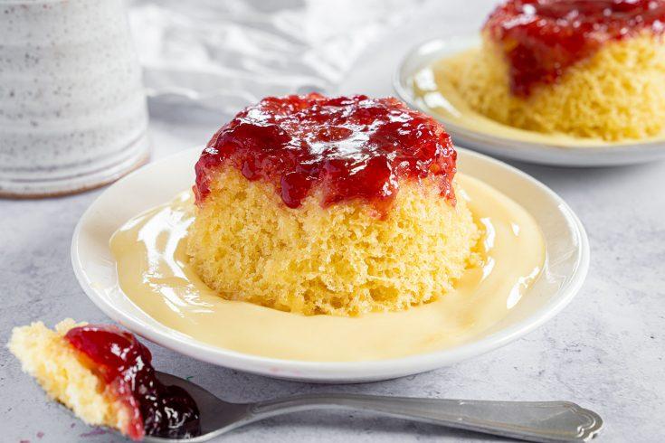 Gluten Free Jam Sponge Pudding Recipe (dairy free)