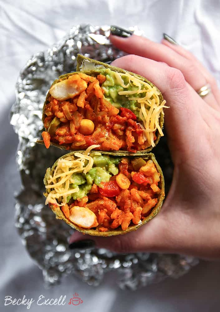 My Gluten Free and Vegan Spicy Bean Burrito Recipe