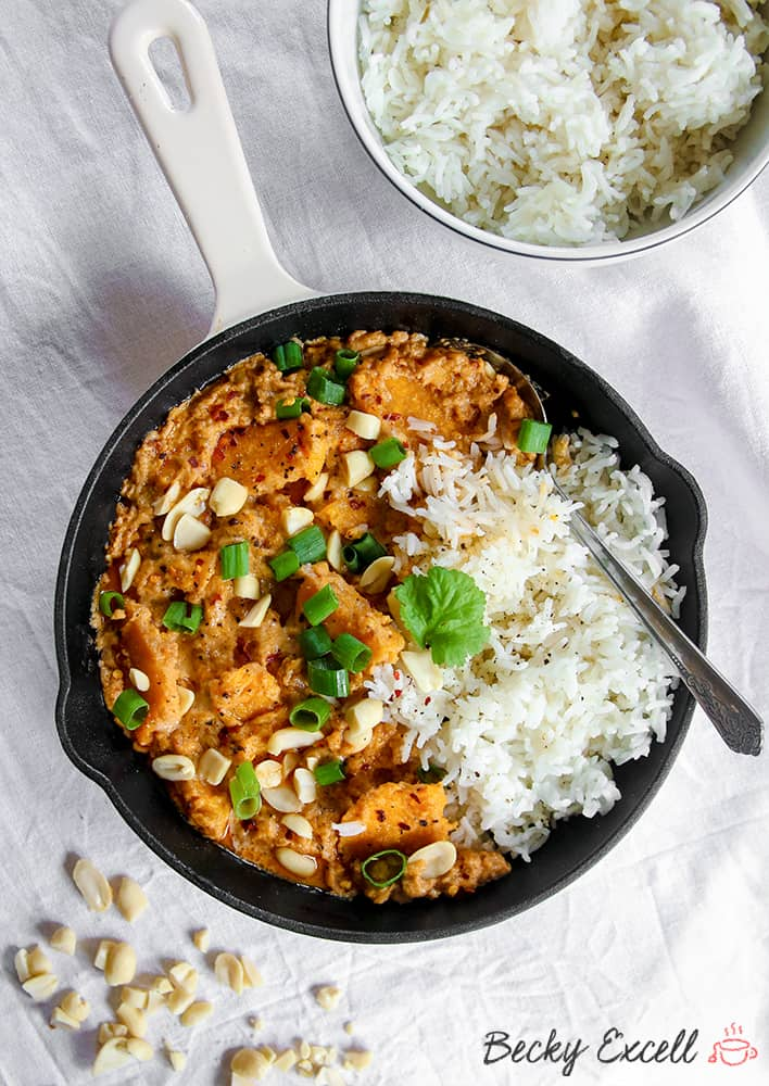 Gluten Free and Vegan Sweet Potato Satay Curry Recipe (dairy free)