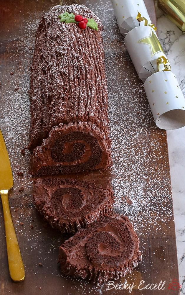 My Gluten Free Yule Log Recipe (dairy free, low FODMAP)