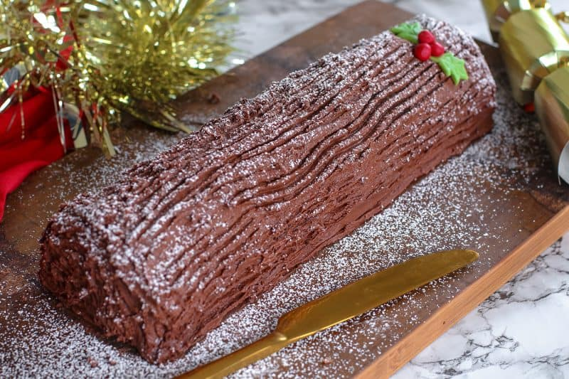 My Gluten Free Yule Log Recipe (dairy free, low FODMAP)