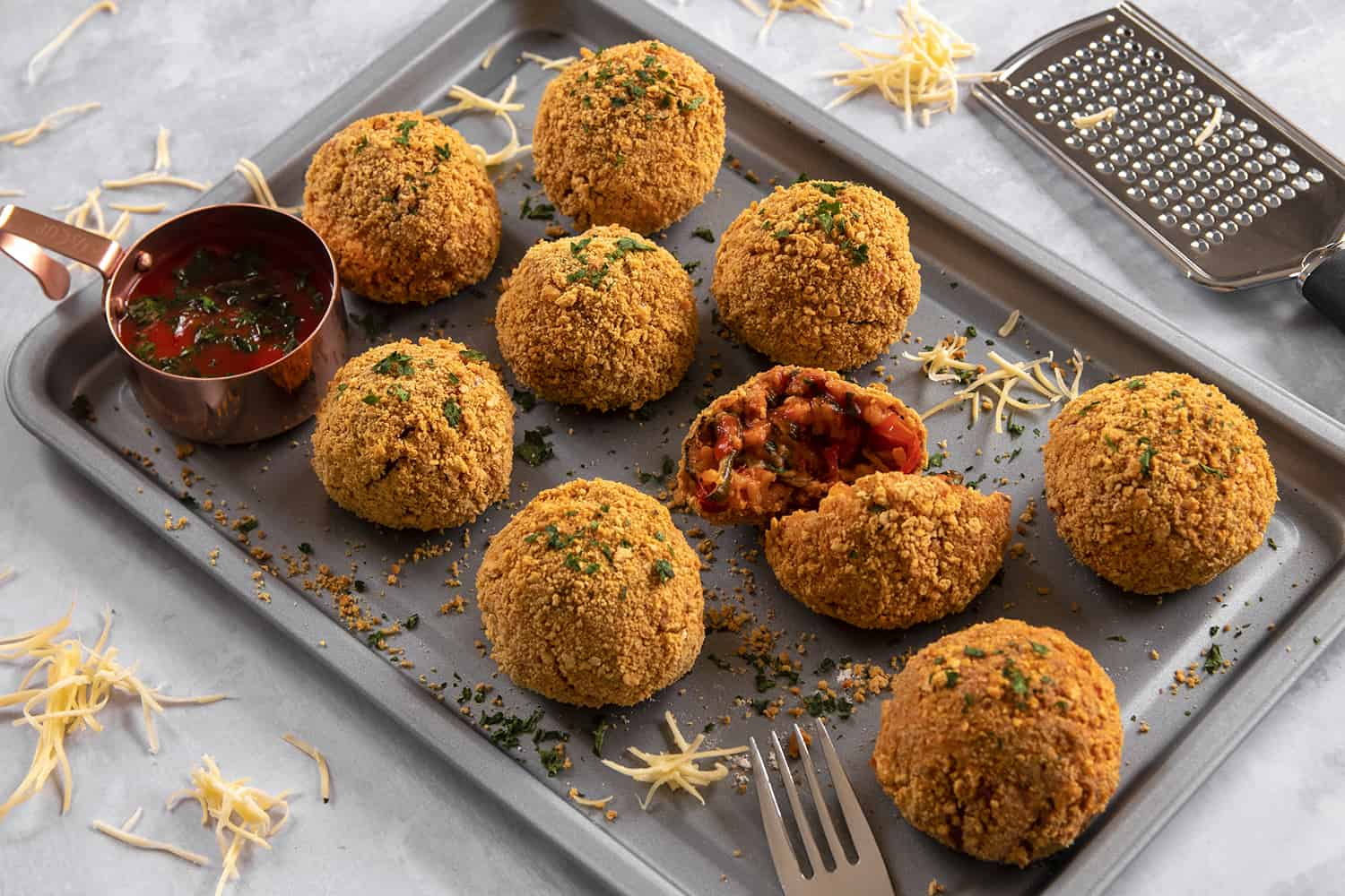 Oven-Baked Gluten Free Arancini Recipe - no frying required!