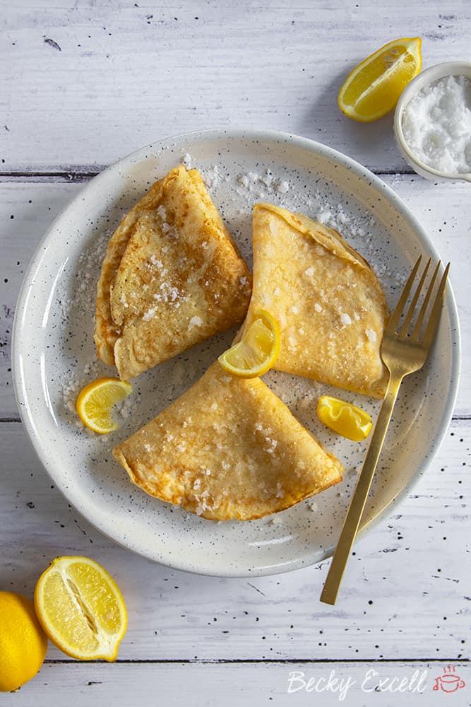 Gluten Free Crêpes Recipe (dairy free, low FODMAP)