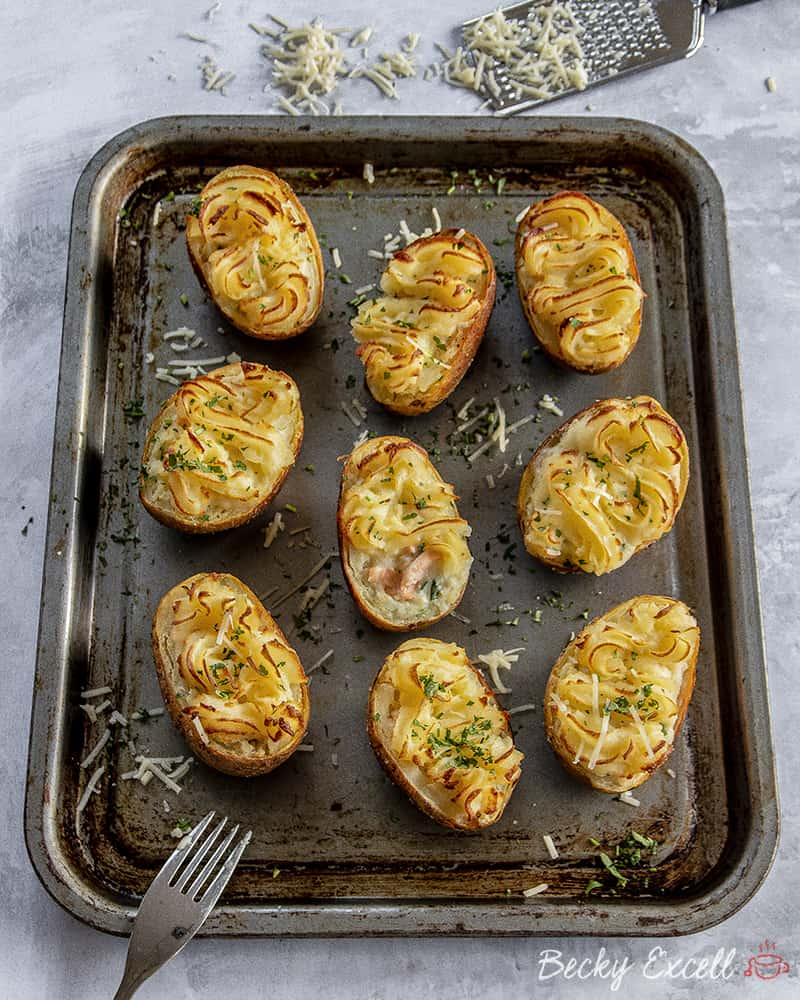 My Gluten Free Fish Pie Loaded Potato Skins Recipe (dairy free, low FODMAP)