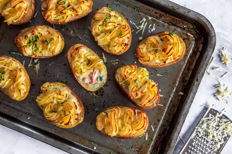 Gluten Free Fish Pie Loaded Potato Skins Recipe (dairy free)