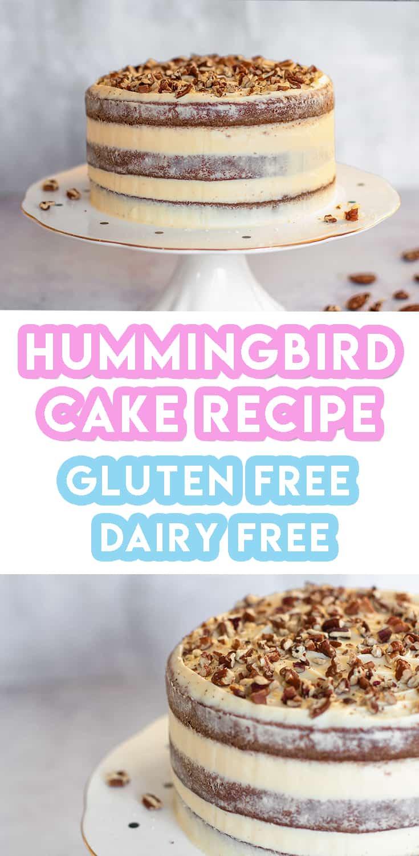 Gluten Free Hummingbird Cake Recipe (dairy free)