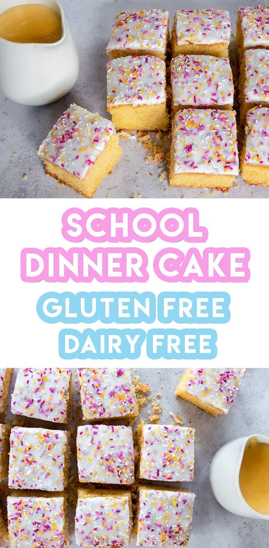 gluten free school dinner sponge cake recipe