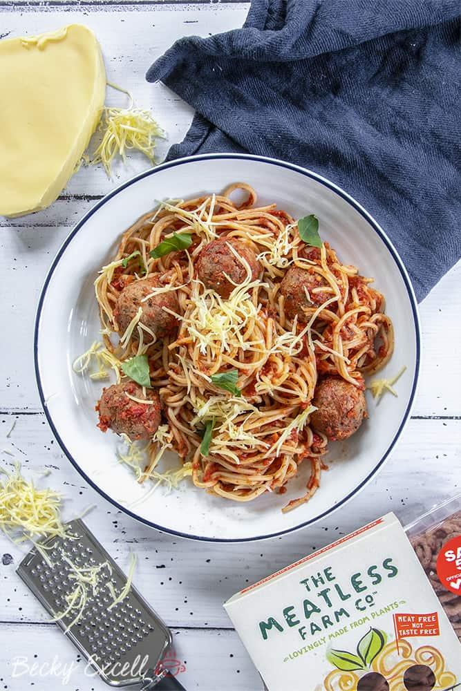 My Gluten Free Spaghetti and Meatless balls Recipe (dairy free, vegan)