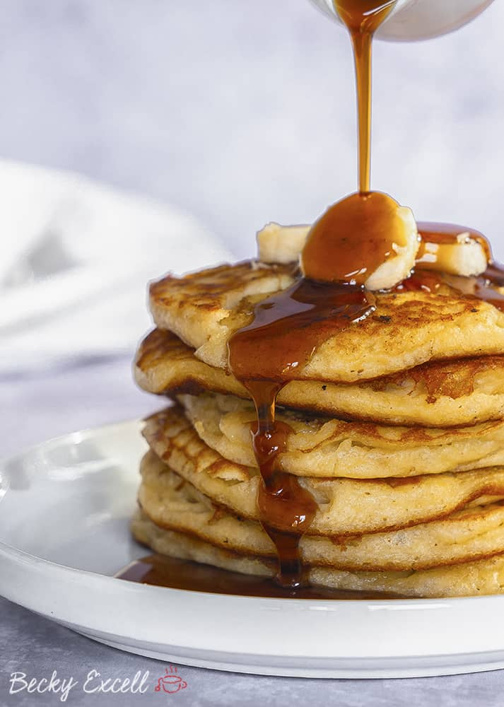 Gluten Free Triple Banana Pancakes Recipe (dairy free)