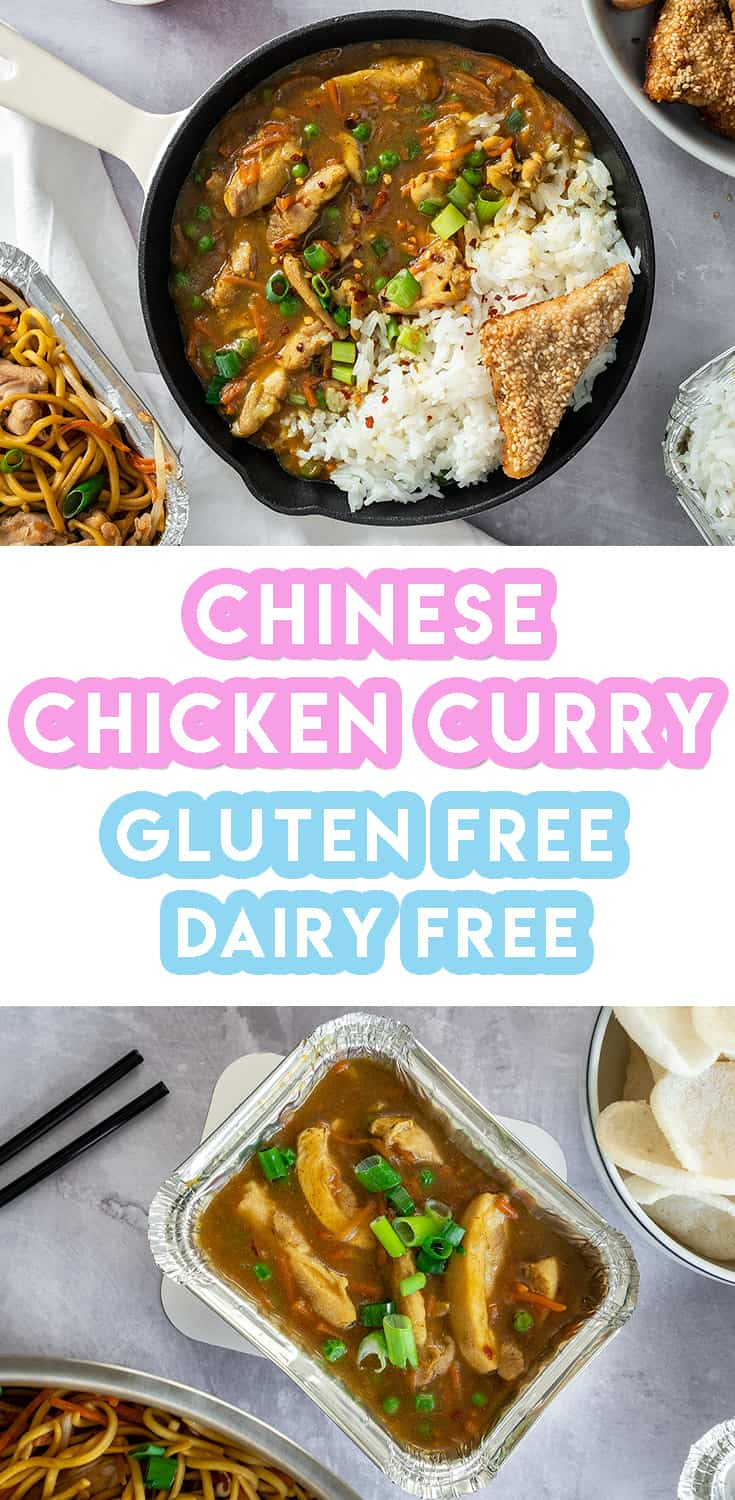 Gluten Free Chinese Chicken Curry Recipe - Takeaway style (low FODMAP, dairy free)