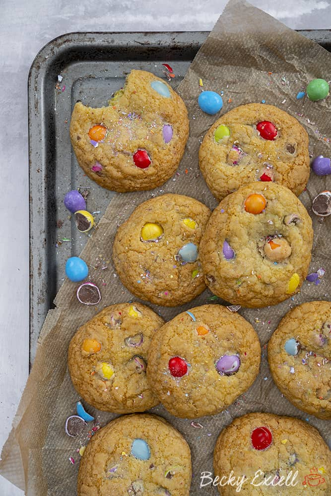 Gluten free Smarties Mini Egg Cookies