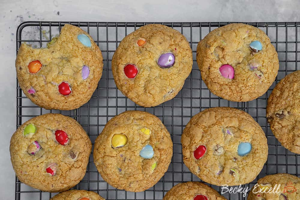 Gluten Free Smarties Mini Egg Cookies Recipe for Easter