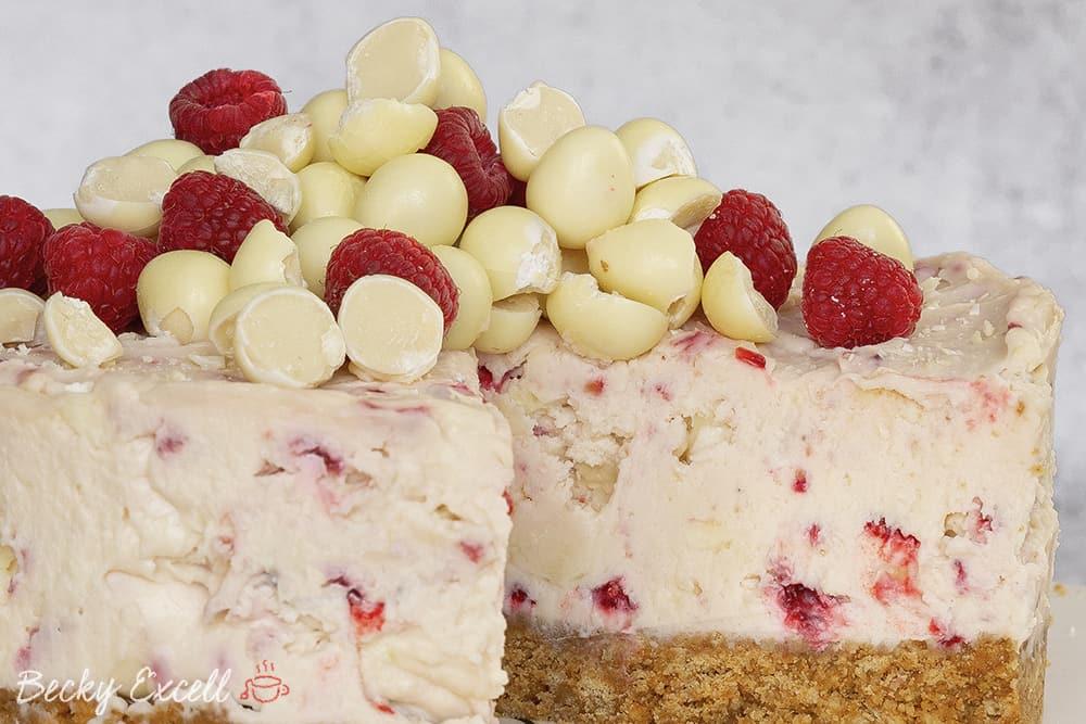 Gluten Free Milkybar Mini Egg and Raspberry Cheesecake Recipe (No-Bake)