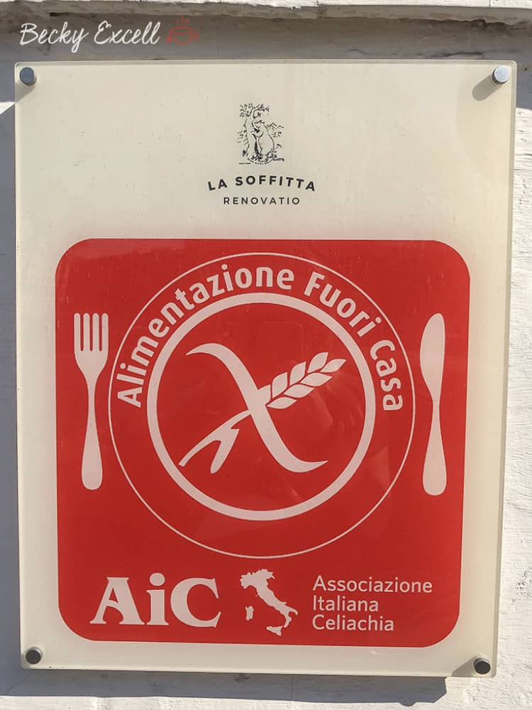 5 reasons you need to eat gluten free at La Soffitta Renovatio in Rome