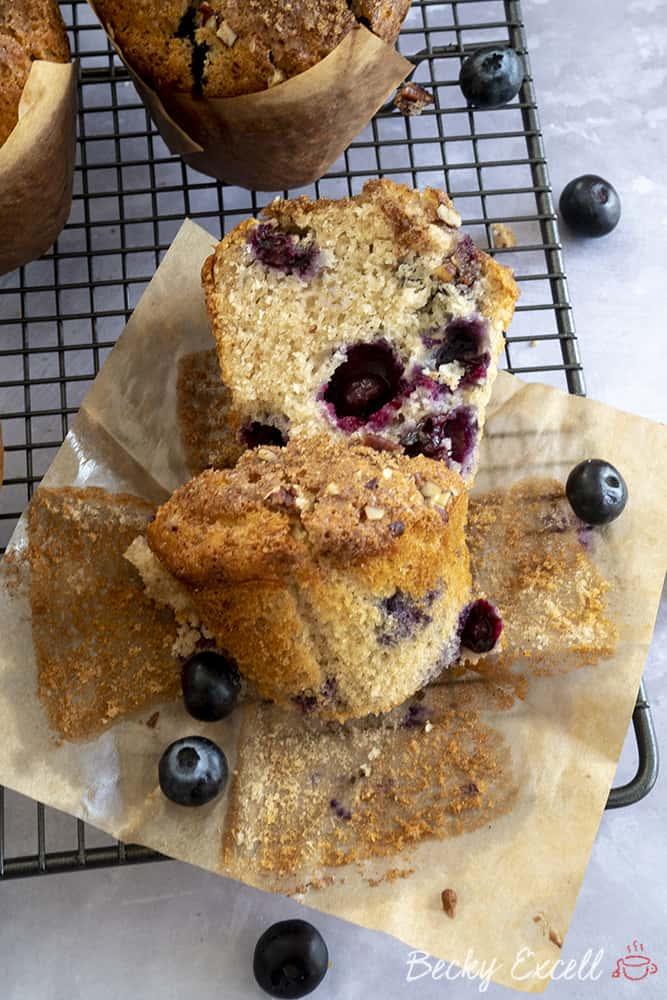 My Jumbo Gluten Free Blueberry Muffins Recipe (dairy free)