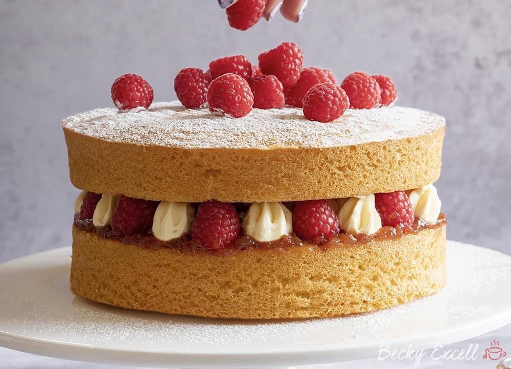 Pleasant Gluten Free Victoria Sponge Cake Recipe Best Ever Dairy Free Funny Birthday Cards Online Inifodamsfinfo