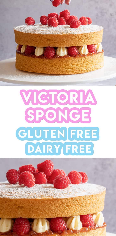 Gluten Free Victoria Sponge Cake Recipe (dairy free)