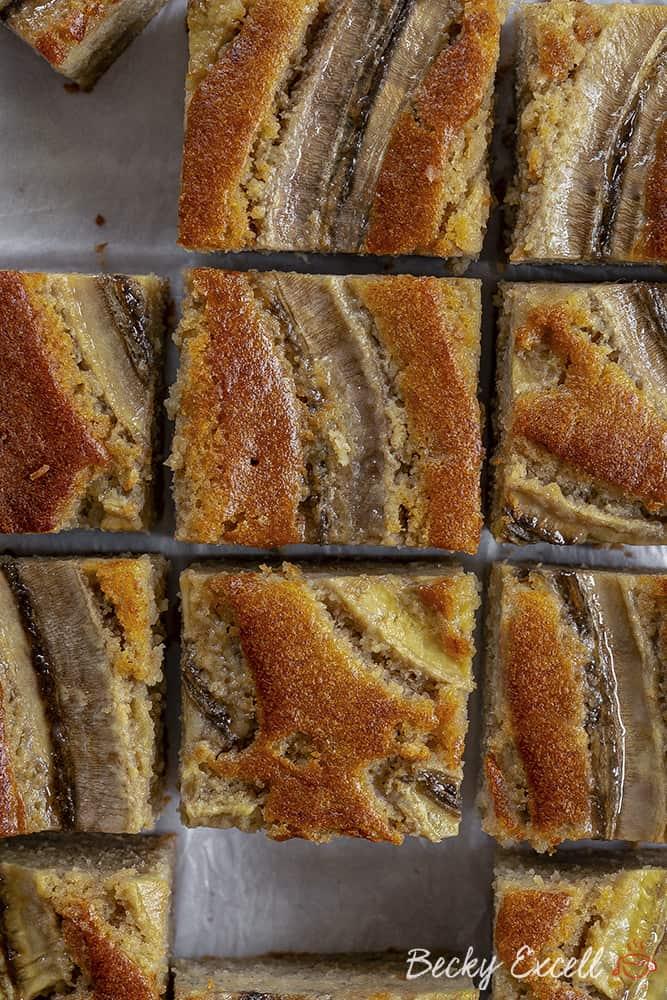 My Gluten Free Banana Bread Traybake Recipe (dairy free)
