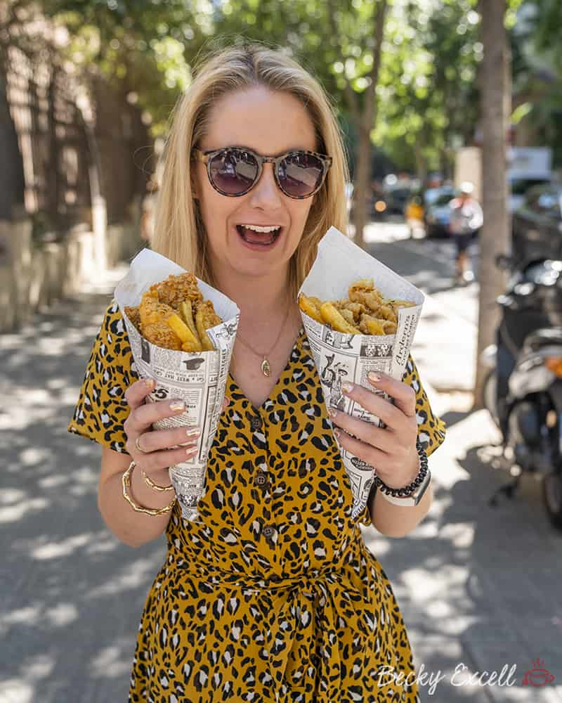 My ULTIMATE guide to gluten free in Barcelona - Fish and Chips Shop