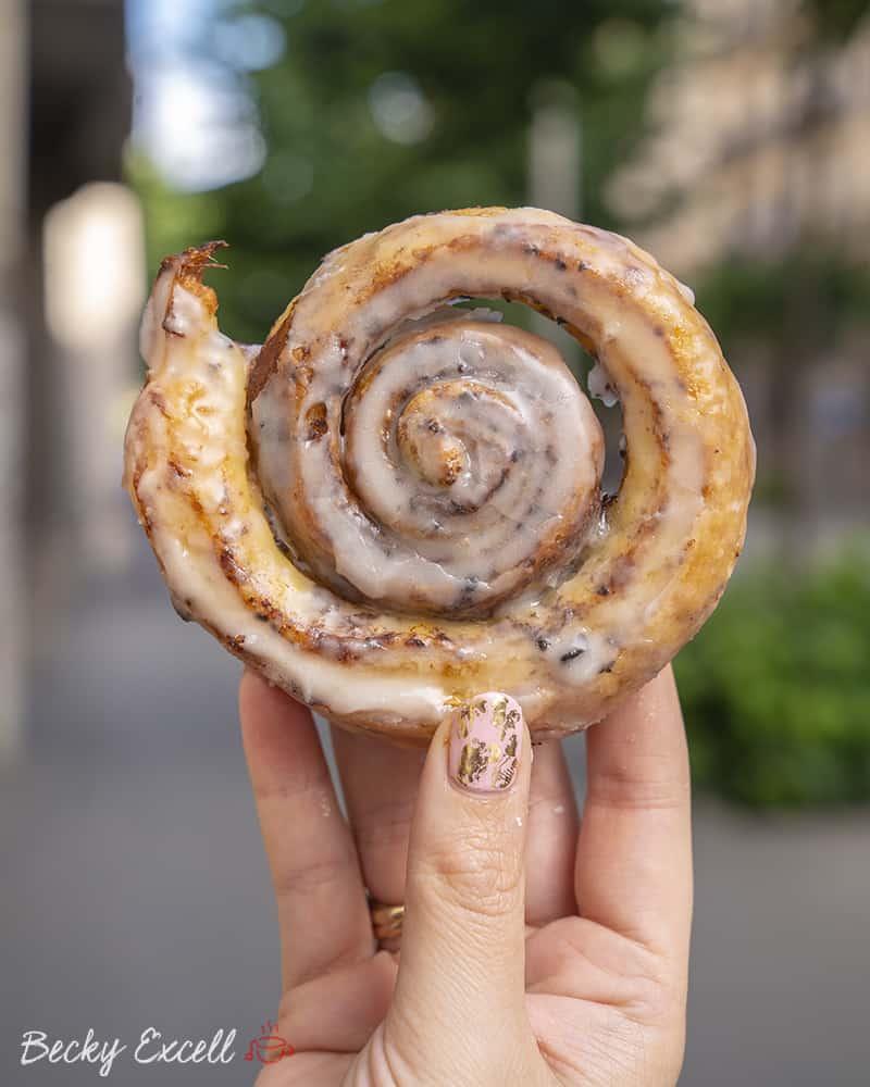 A cinnamon whirl from Jansana Gluten Free Bakery