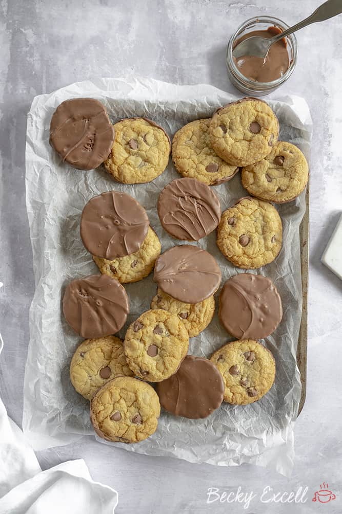 Gluten Free Choc Chip Dipped Cookies Recipe (dairy free)