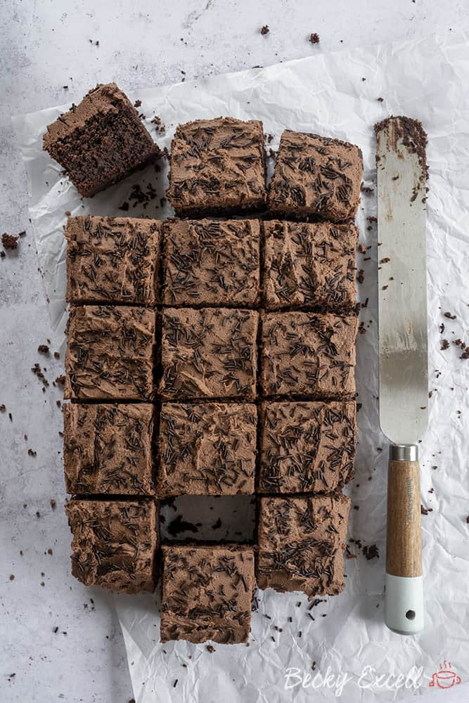 My Gluten Free Chocolate Traybake Recipe (dairy free, low FODMAP)