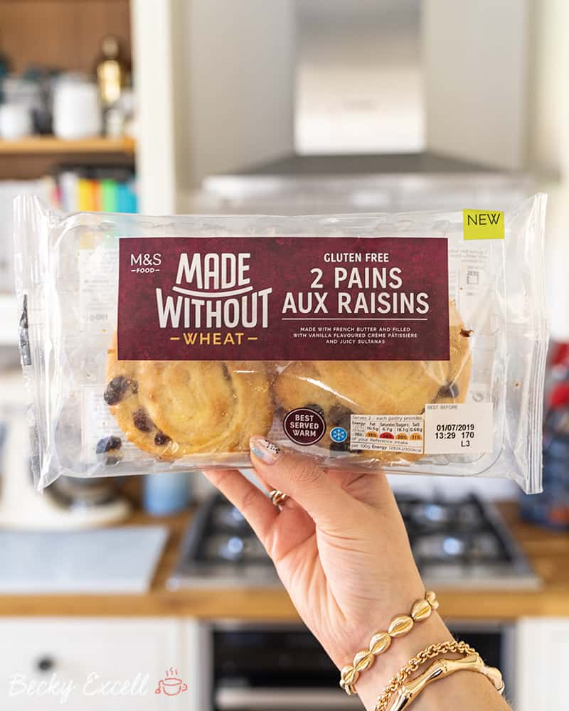 Marks and Spencer's NEW gluten free Pain Aux Raisins - front of product