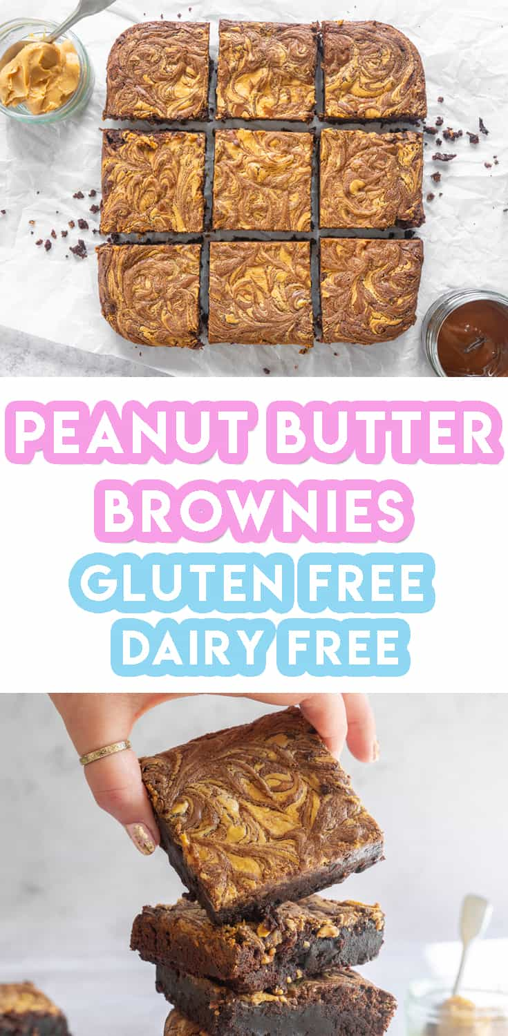 Gluten Free Peanut Butter Brownie Recipe (dairy free and low FODMAP)