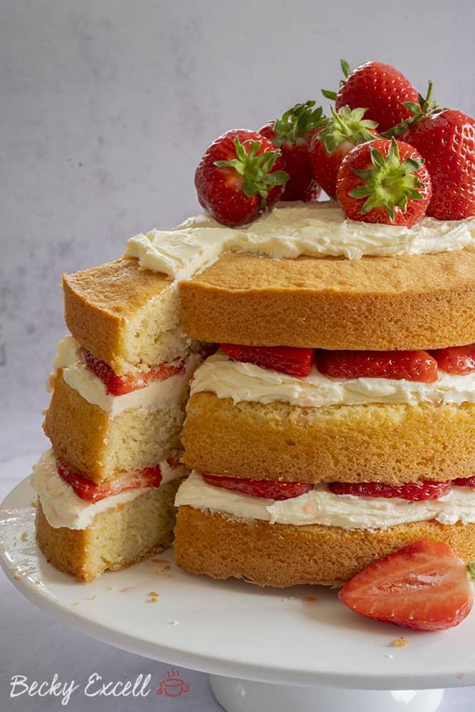 My Gluten Free Prosecco and Strawberry Cake Recipe (dairy free)