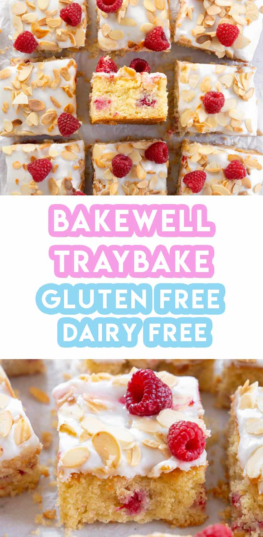 My Gluten Free Bakewell Traybake Recipe (dairy free)