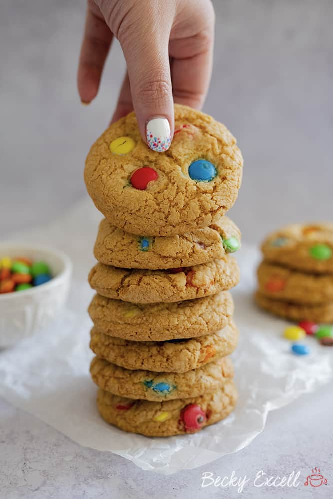 My Gluten Free 'Smarties' Cookies Recipe using Aldi Choc Ums