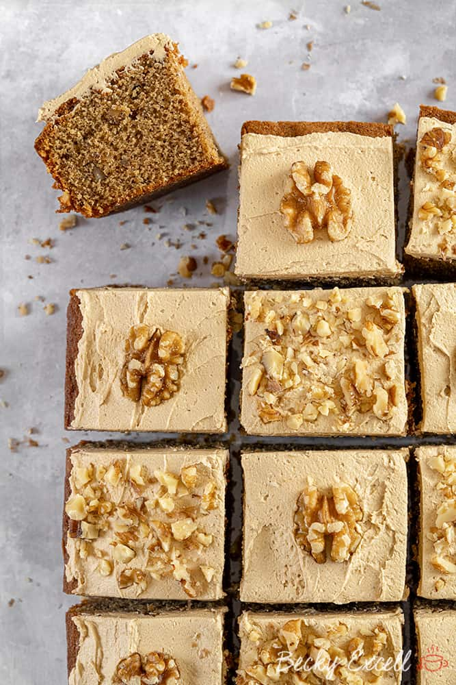 My Gluten Free Coffee and Walnut Traybake (low FODMAP, dairy free option)