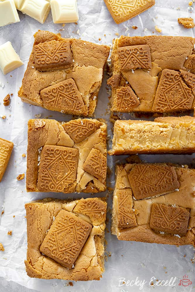 My Fudgy Gluten Free Custard Cream Blondies Recipe