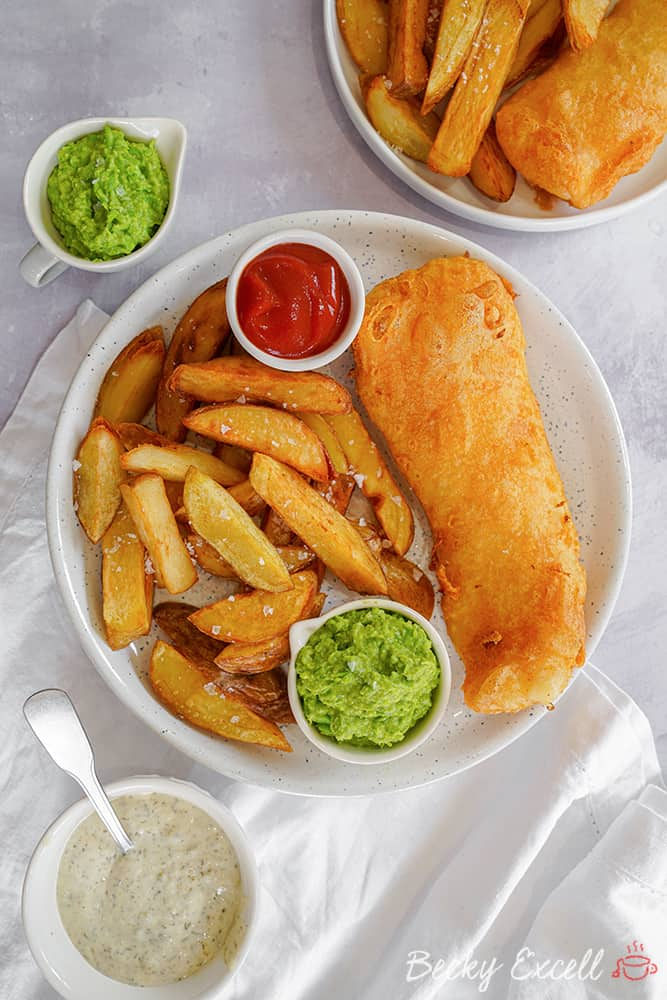 My Gluten Free Beer Battered Fish and Chips Recipe (dairy free, low FODMAP)