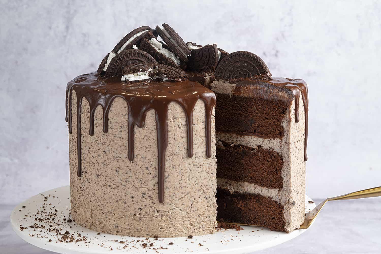 Pleasant Gluten Free Oreo Drip Cake Recipe Dairy Free Option Funny Birthday Cards Online Overcheapnameinfo